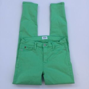 Hudson Green Skinny Jeans